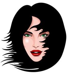 Green Eyes Beauty Portrait-Ritratto Bella Ragazza Occhi Verdi
