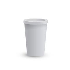 Empty cardboard coffee cup