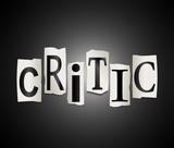 Critic concept. poster