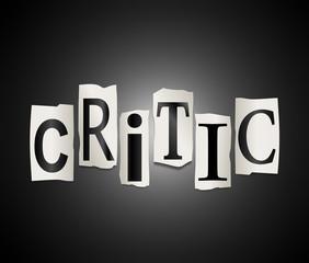Critic concept.