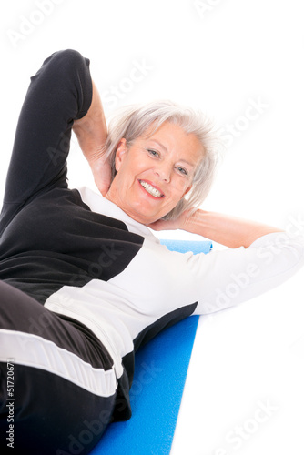 Senior woman at workout