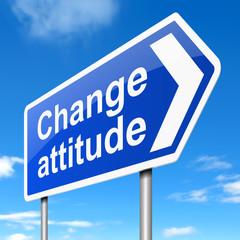 Change attitude concept.
