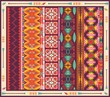 Seamless colorful aztec carpet with birds,flowers and arrow