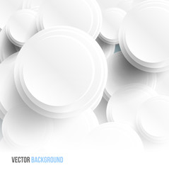 Vector circle Abstract web design bubble, vector