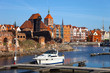 Old Town and Marina in Gdansk, Poland.