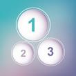 One two three circles