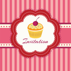 Cupcake background. Invitation