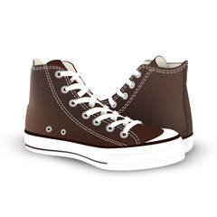 pair of sneakers on white background