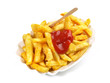 Pommes Frites mit Ketchup