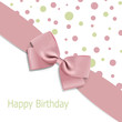 Vector birthday background with bow