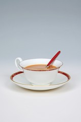 White tea in English bone china cup © Arena Photo UK