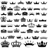 Crown design Set - 50 illustrations poster