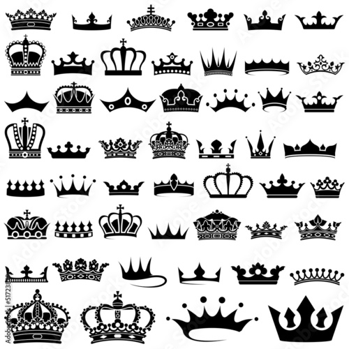 Crown design Set - 50 ilustracji