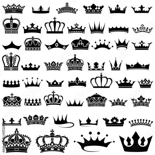 Crown design Set - 50 illustrations poster