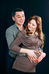 pregnant woman and man