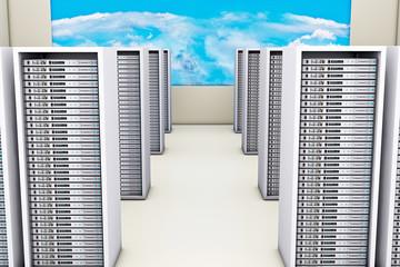 Server room - 3D Rendering