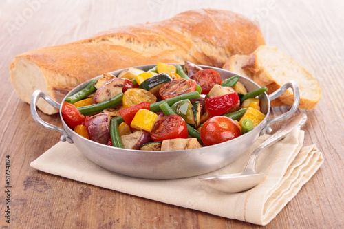ratatouille, cooked vegetables