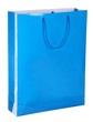 blue shopping paper bag isolated on white