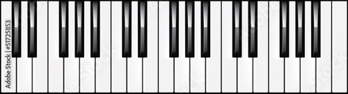 3-octave piano keyboard illustration