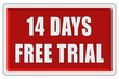 Glassy Button rot eckig 14 DAYS FREE TRIAL