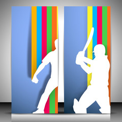Cricket website banners. EPS 10.