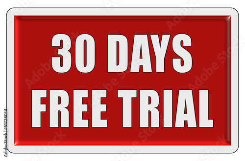 Glassy Button rot eckig 30 DAYS FREE TRIAL