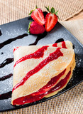 strawberry crepes
