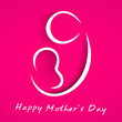 Beautiful Happy Mothers Day concept with line art on a mother wi