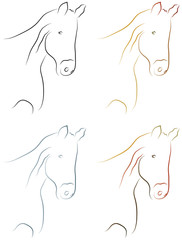 Pferd - Pferdekopf - Logo