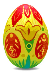 Bright and colorful vector easter egg with shadow