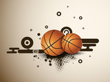 Illustration of a basketballs on  abstract grungy background. EP