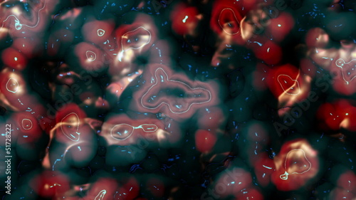 Animated bacteria, abstract digital background, HD 1080p, loop.