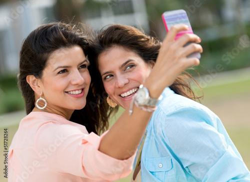 Friends taking a self portrait
