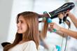 Woman at the hair salon