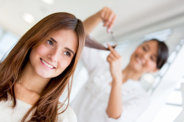 Girl at the beauty salon