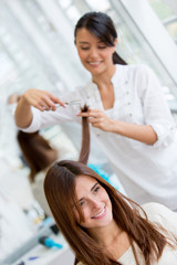 Woman at the beauty salon