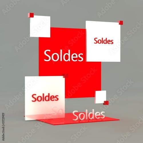 Soldes illustration 3D