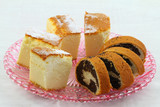 Traditional Polish cakes: cheesecake and poppy seed cake