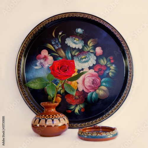 Leinwandbild Motiv Zhostovo painting