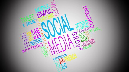 Social media buzzwords montage