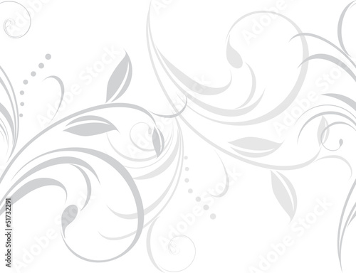 Ornamental light gray border isolated on the white