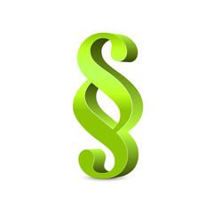 Paragraph – 3D Paragraphenzeichen in grün