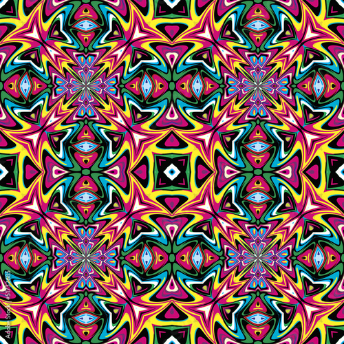 Poster Modern Mexican fabric design