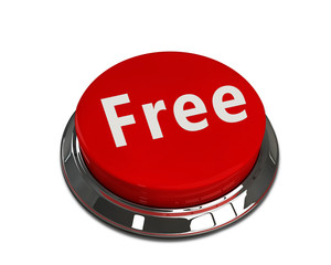 Free Button - Red mettalic button