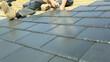 Roof Tiler Installing Slat Roof