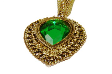 Pendant of Gem in Metalic Cover