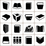 16 book icons set