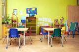 Fototapety Montessori Kindergarten Preschool Classroom