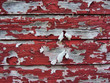 Red Peeling Paint on Rustic Old Barn