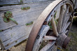 roue de vieux wagon